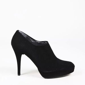 Stuart Weitzman Cover Up Black Suede Booties 7.5